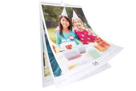 First For Photo - A3 or A4 Personalised Photo Calendar in Portrait Format - Save 75%