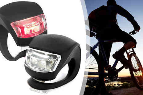 Lol Bargains - Set of Two Silicone LED Bike Lights - Save 0%