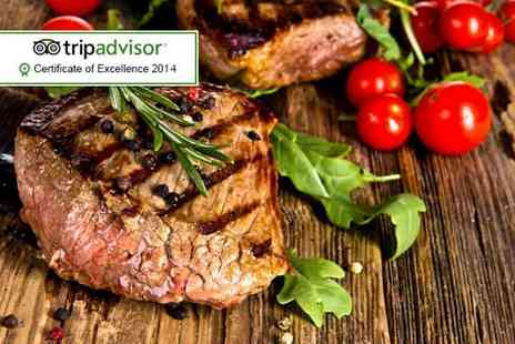 Salvatores Ristorante - Two course steak dinner for Two including wine - Save 66%
