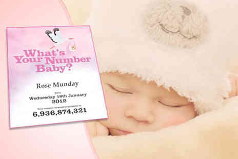 Whats Your Number Baby - PDF worlds population number birth certificate - Save 75%
