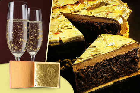 Gift Right - Ten sheets of 24k edible gold leaf - Save 86%