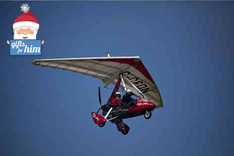 Microlight Flights - One hour microlight flight lesson with 30 minutes of flying  - Save 56%