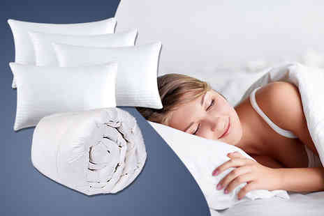 Wowher Direct - Single duvet and four bounce back pillows - Save 67%