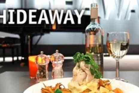 Hideaway - Night of Live Music or Comedy Plus Two Course Meal and Drinks For Two - Save 65%
