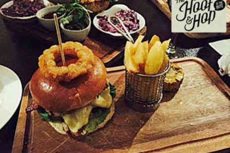 The Hoof & Hop - Burger and Pint of Beer for Two - Save 51%