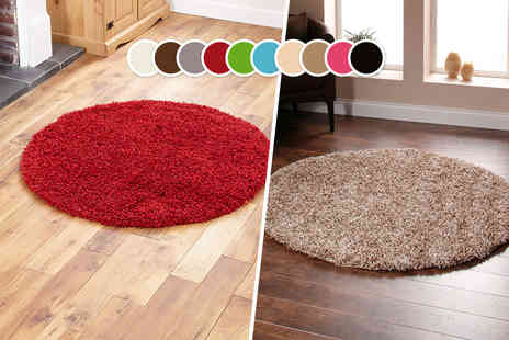 Cotton Life - Circular shaggy rug in a choice of three sizes   - Save 0%