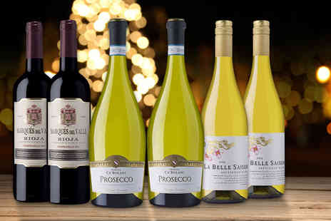 Laithwaites - Six bottle selection of red and white wine with Prosecco Plus Delivery Included  - Save 40%