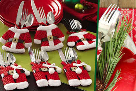 E Smartshop - Set of four Santa Claus cutlery socks  - Save 67%