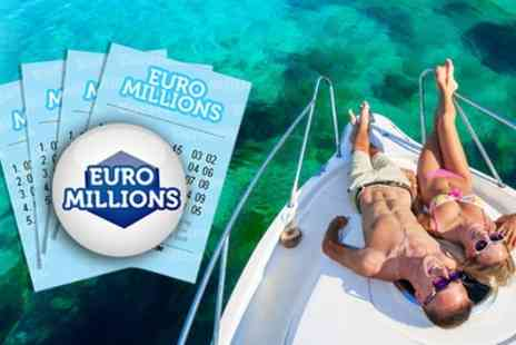 Lotto Social - 20, 40 or 80 Syndicated EuroMillions Lines and Raffle Entries  - Save 47%