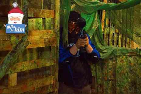 Battlefield Paintball - Three hours of indoor paintballing for 5 including lunch & 100 paintballs each  - Save 94%