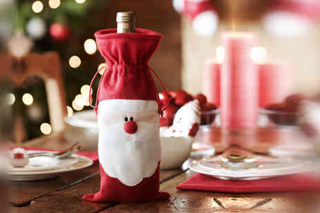 1st Light  -  Santa Claus wine bottle cover  - Save 87%