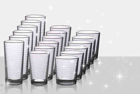 Wowher Direct - 18 piece glassware set - Save 72%