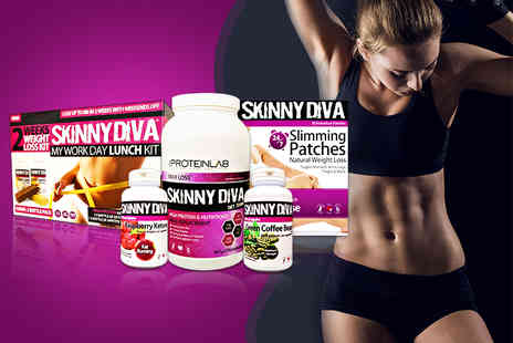 The Protein Lab - Five piece weight management mega pack including tummy patches, raspberry ketones and more - Save 77%