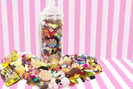 Mr Big Tops  - Giant 2kg Victorian sweet jar indulge your sweet tooth - Save 60%