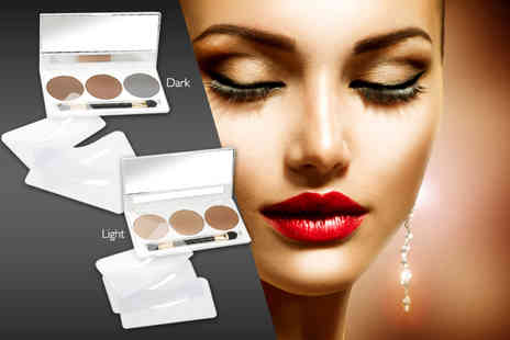 DVA Beautique - Semi permanent brow kit including three powders, three stencils and a brush - Save 87%