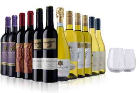 Laithwaites Wine Merchants - 12 Bottles of Red, White or Mixed Wine with Prosecco plus Two Free Glasses with Laithwaites Wine Plan - Save 60%