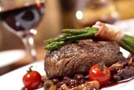 The White Lion - Steak Meal with Wine for Two - Save 53%