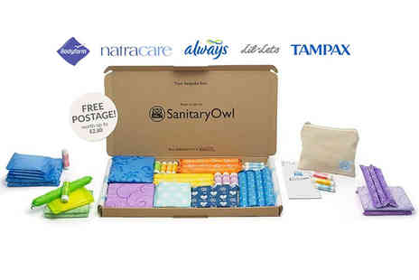 Sanitary Owl - Two month tampon and sanitary towel subscription box  - Save 67%