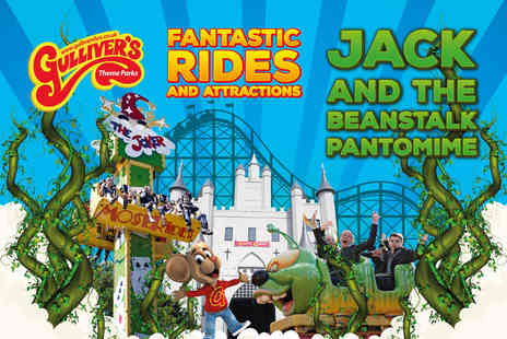 Gullivers - Christmas Jack and the Beanstalk pantomime ticket with theme park entry - Save 20%