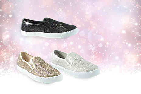 Starmark Import Export - Pair of sparkling Glitzie trainers - Save 76%
