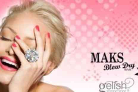 Maks Blowdry Bar - Full Set of Gelish Nails for Hands - Save 64%