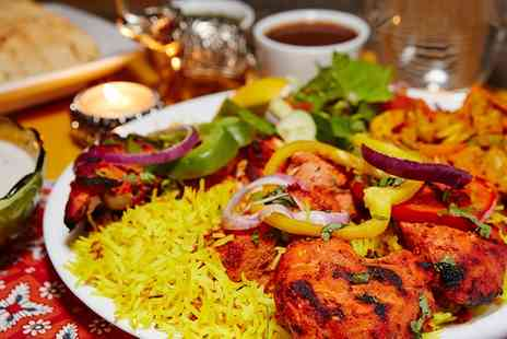Roshnis Indian Restaurant - Two Course Indian Meal with a Glass of Wine for Two  - Save 57%