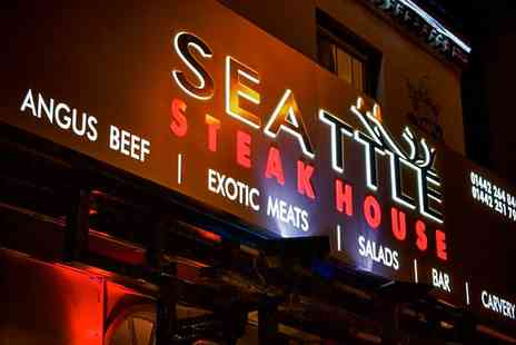 seattle steakhouse - Australian Black Angus Steak with Triple Cooked Hand Cut Chips for Two - Save 45%