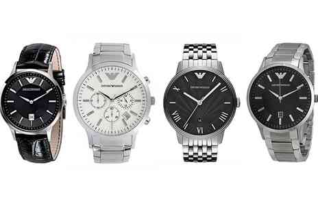 OUTLET PERFUMES - Emporio Armani Mens Watch With Free Delivery - Save 46%