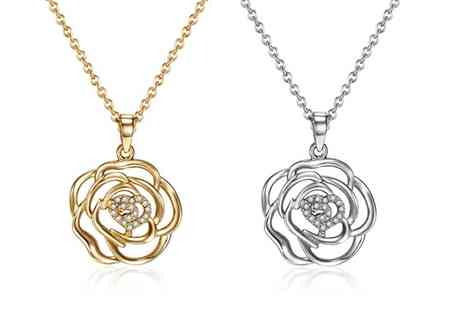 Sarroff - Ladies Bloom Necklace in Choice of Colour - Save 75%