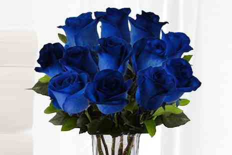 flowers delivery 4 u  - Six Blue Roses With Chocolates   - Save 48%