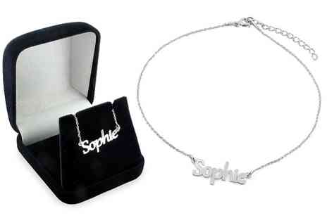Silvexcraft Design - Personalised Name Anklet With Free Delivery - Save 68%