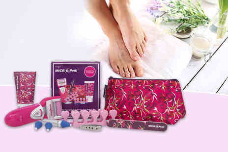 Irish Response - Award winning MICRO Pedi pedicure device and eight foot pamper accessories - Save 68%