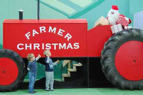 Green Dragon Rare Breeds Farm & Eco Centre - Tickets to Meet Farmer Christmas on 21 to 24 December   - Save 31%
