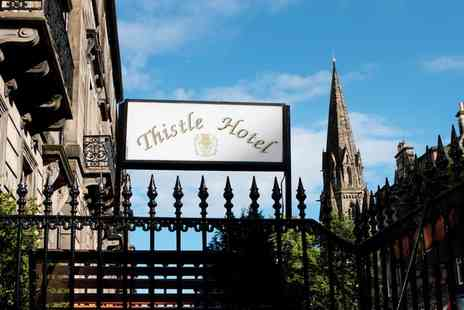 Edinburgh Thistle Hotel - One or Two Nights stay  For Two With Breakfast Plus Wine  - Save 0%