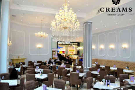 Creams Leeds - Cupcake, French Macaroon, and Hot Drink for Two - Save 50%