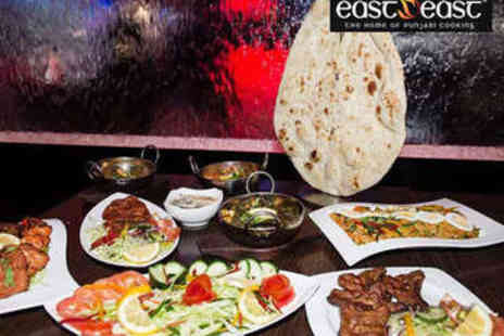 eastZeast - Two Course Indian Meal with Rice and Wine for Two - Save 60%