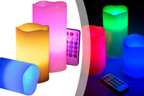 Lol Bargains - Three Piece Flameless Colour Changing Candle - Save 55%