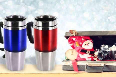 Shop Monk - 450ml USB Travel Mug - Save 65%
