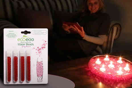 Ecoegg  - Set of 4 Water Beads - 3 Scents Available - Save 50%