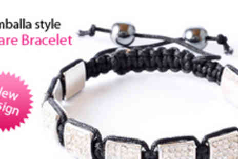 Gifts 4 U - New Design Square Shamballastyle Bracelet - Save 82%