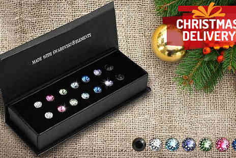Diamond Republic Jewllery - Seven Piece Swarovski Elements Crystal Stud Set - Save 87%