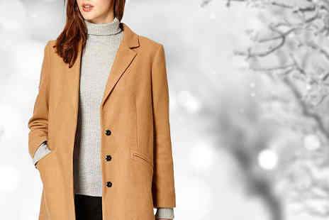 Anastasia Fashions - Wool Crombie Winter Coat Available in Three Colours - Save 33%