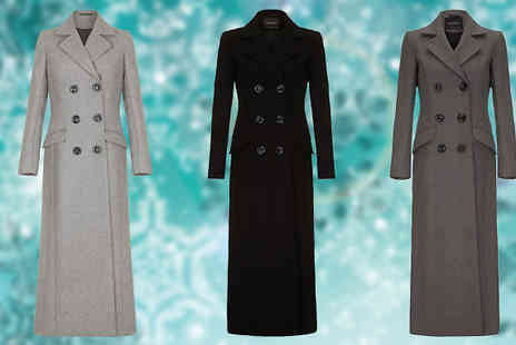 Anastasia Fashions - Winter Wool Trench Coat Available in Three Colours - Save 44%
