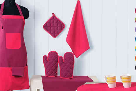 Shop Monk - Eight pc Kitchen Linen Set - Save 40%