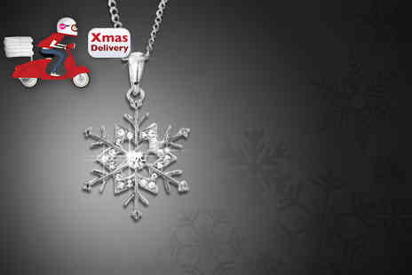 Wowher Direct - Snowflake necklace made with Swarovski Elements - Save 88%