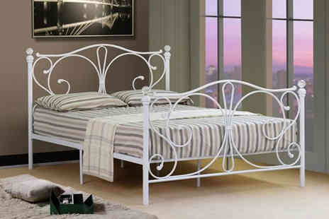 Furniture Instore - Florence metal small double bed frame - Save 0%