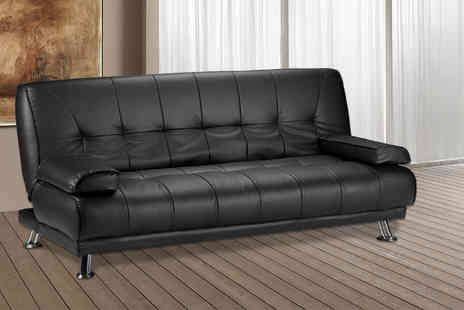 Limitless Base - Venice faux leather sofa bed - Save 70%