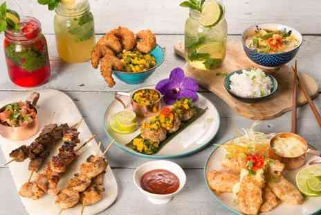The Lost Garden - Pan Asian Tapas for Two with Dessert to Share   - Save 53%