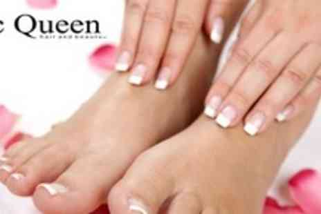 McQueen - Manicure and Pedicure For Two With Bubbly - Save 70%