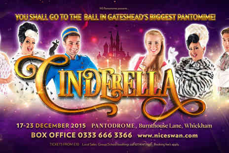 NS Pantomimes - Two tickets to see Cinderella - Save 46%